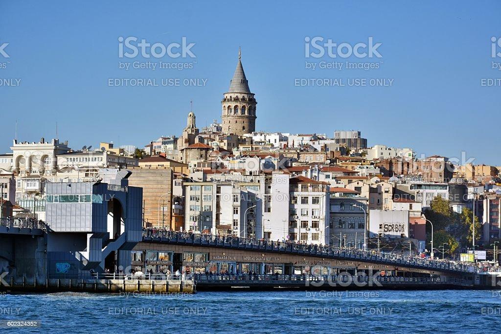 Galata skyline in Istanbul. stock photo