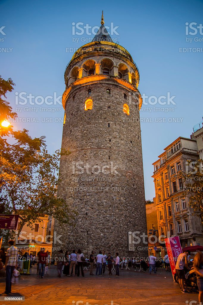 Galata Tower in Istanbul, Turkey stock photo