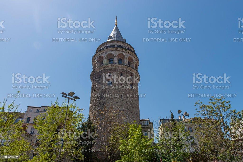 Galata Tower, Istambul, Turkey stock photo