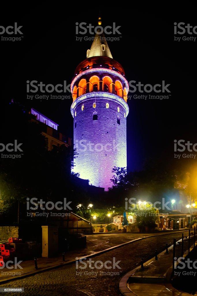 Galata Tower Istanbul stock photo