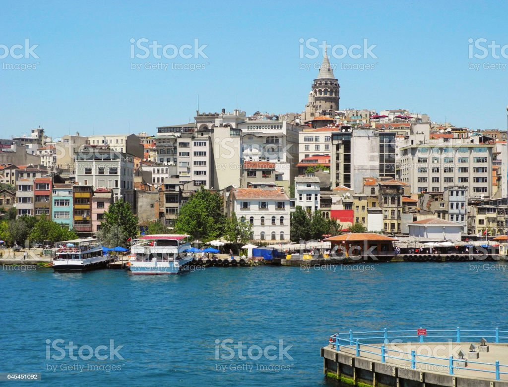 Galata Tower, Istanbul. stock photo