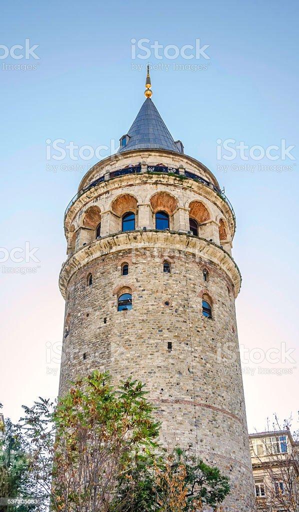 Galata Tower. Istanbul, Turkey stock photo