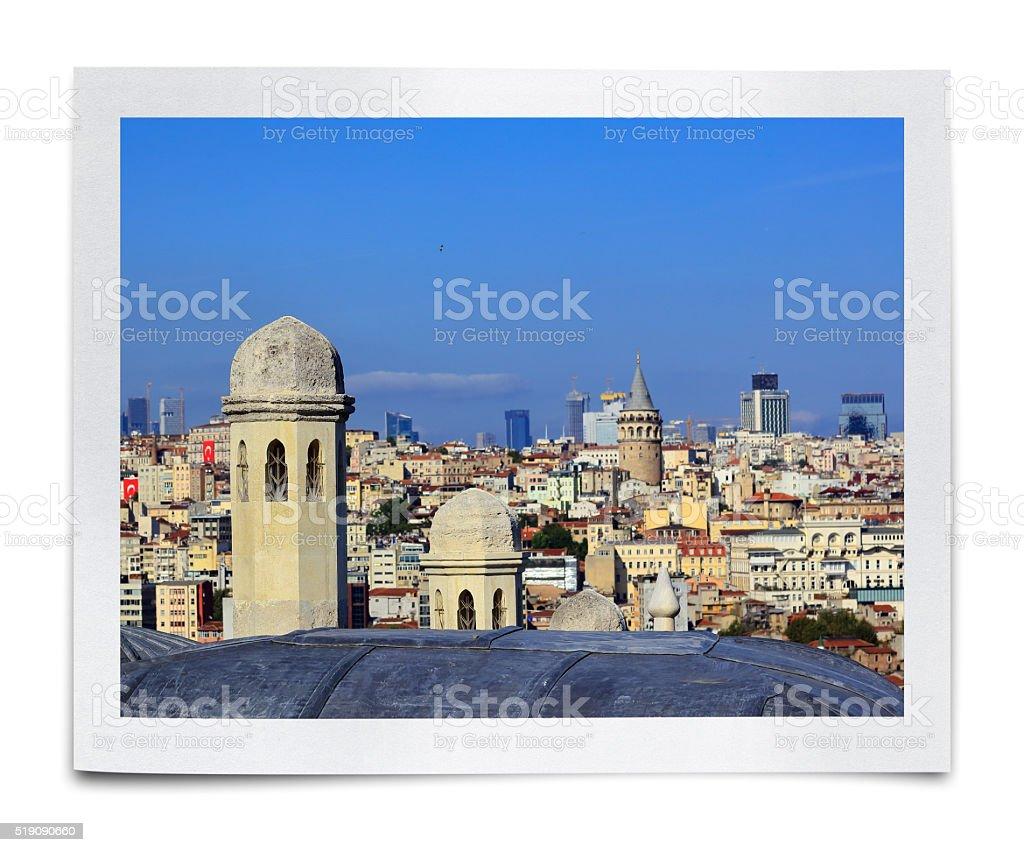 Galata Tower Photo (Clipping Path) stock photo
