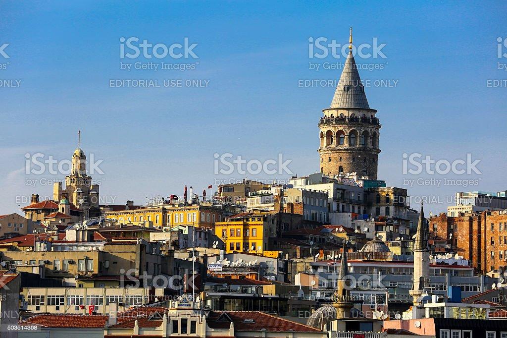 Galata tower. stock photo