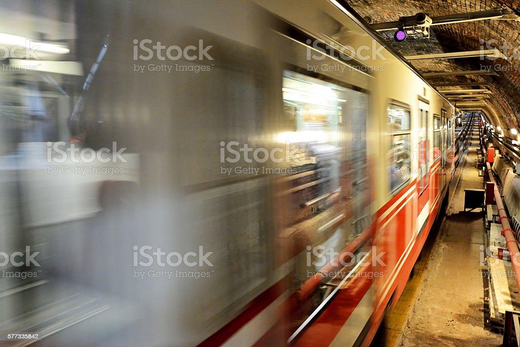 Galata tunnel stock photo