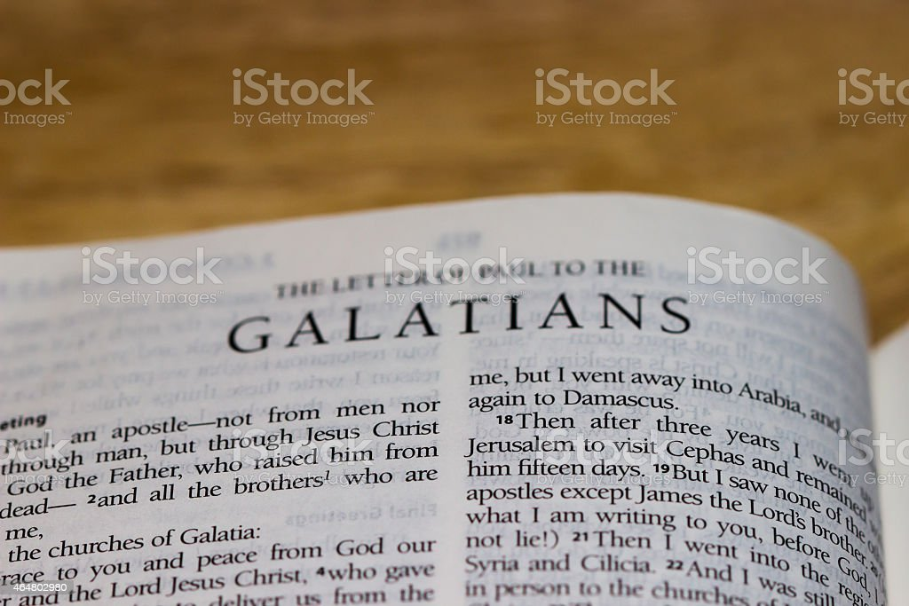 Galatians (Bible) stock photo
