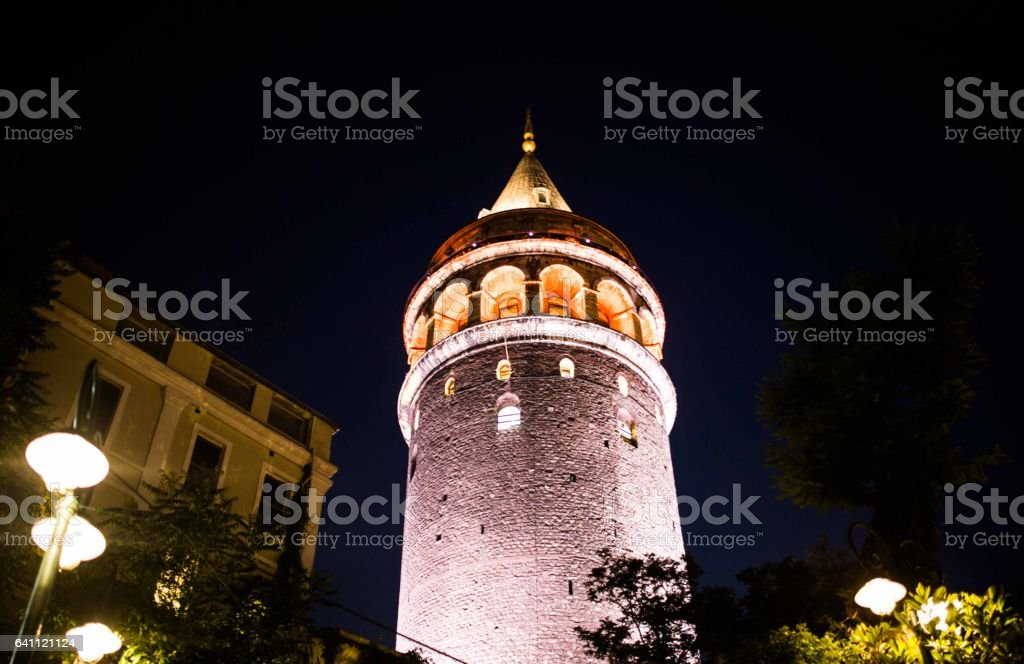 galato tower, istanbul stock photo