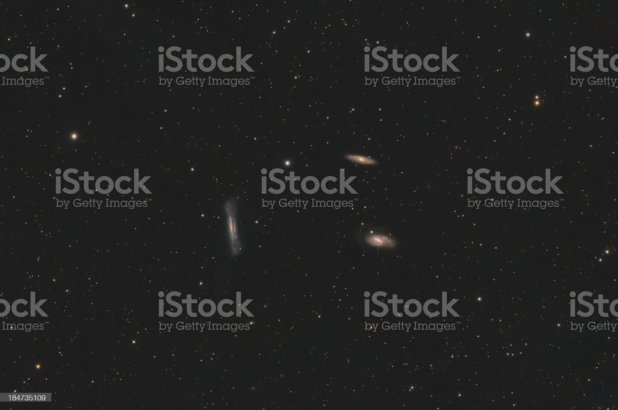 Galaxies in Leo constellation royalty-free stock photo