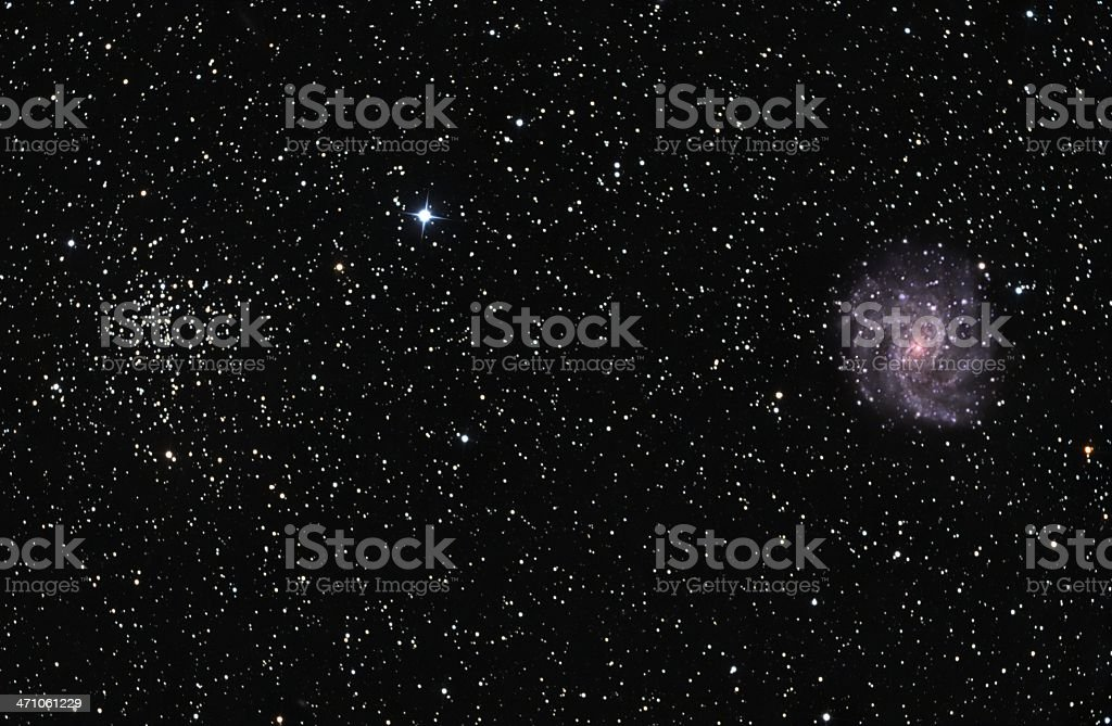 Galaxy and Star cluster royalty-free stock photo