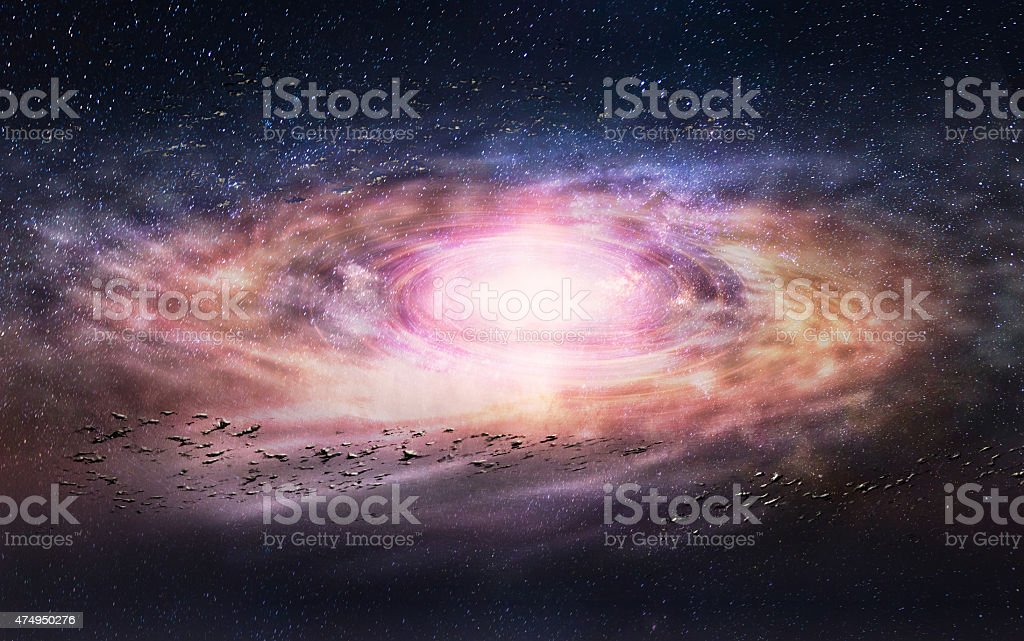 Galaxy creative stock photo