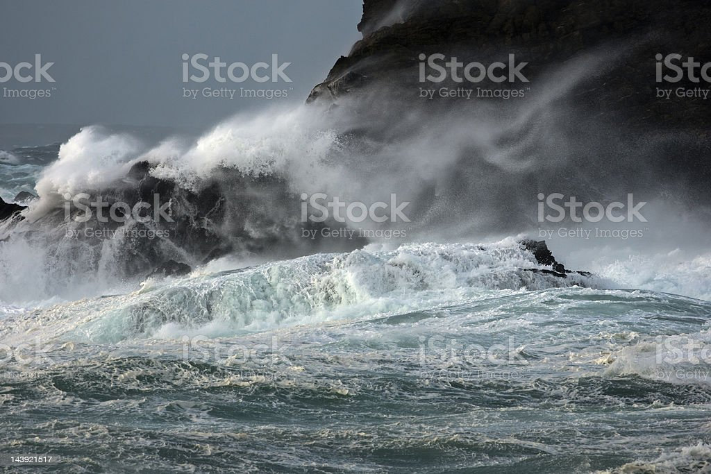 Gale at West Burra on Shetland stock photo