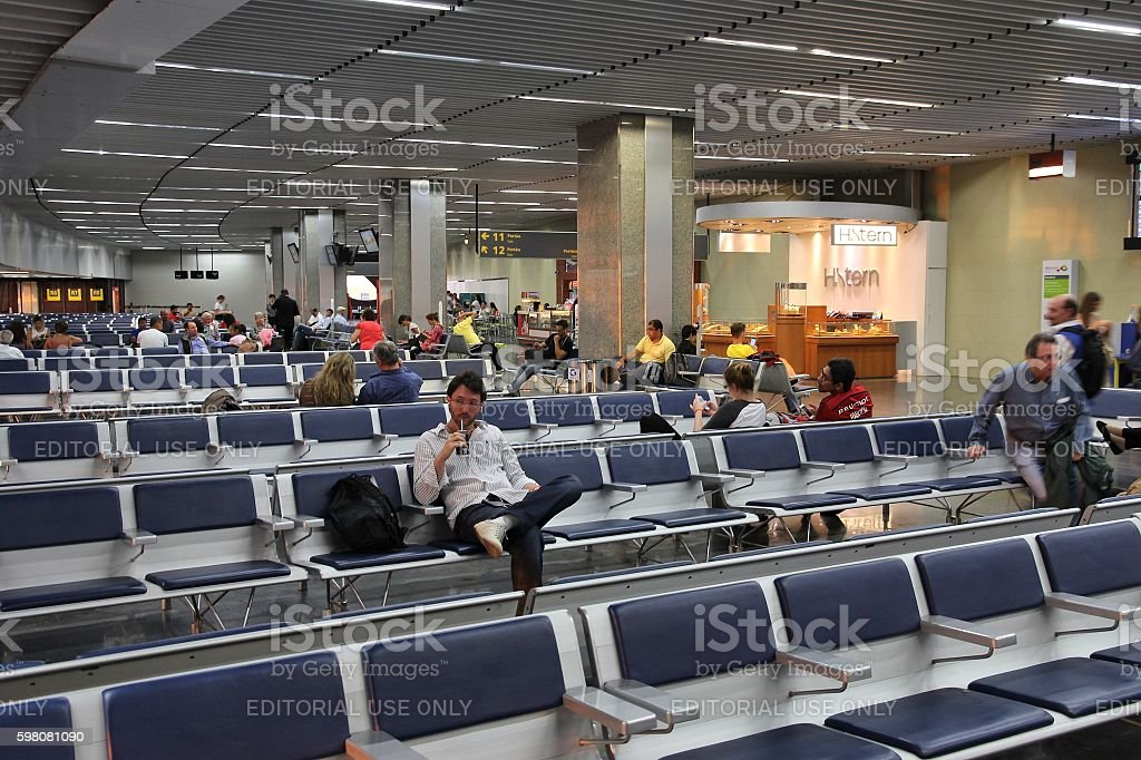 Rio Galeao airport stock photo