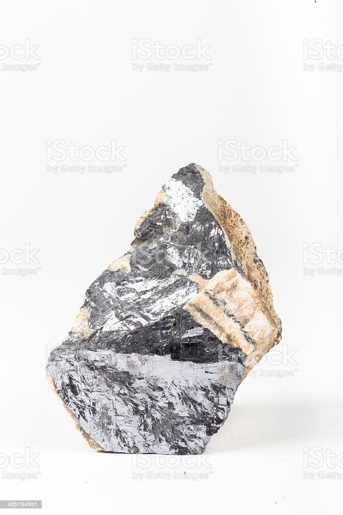 Galena lead metal ore natural mineral stock photo