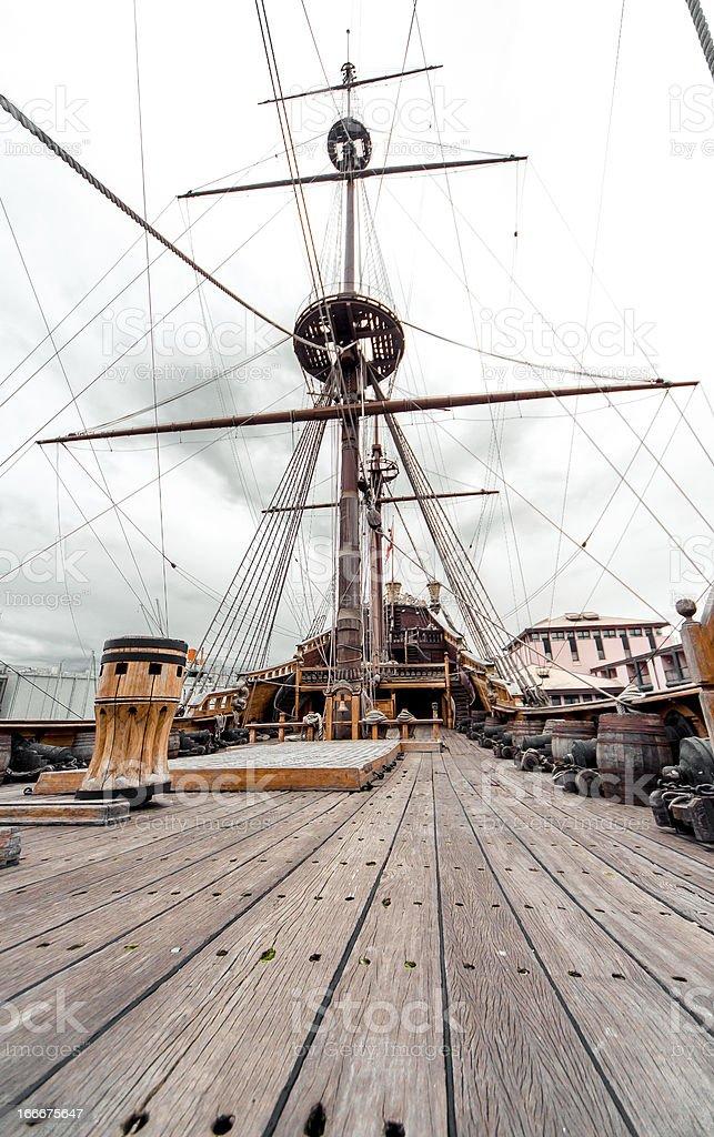 Galeone Neptune ship, Italy stock photo