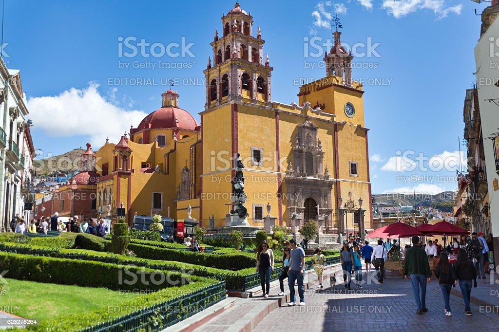 Galeria Mariana de Basilica Colegiata de Nuestra Senora de Guanajuato stock photo