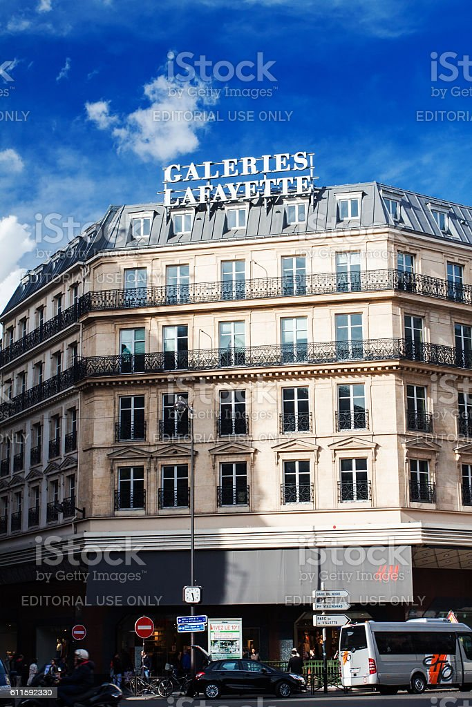 Galeries Lafayette stock photo