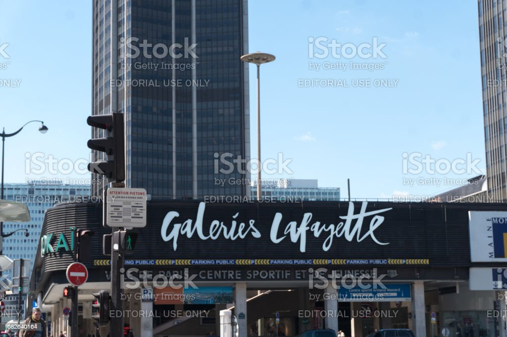 Galeries Lafayette storefront stock photo
