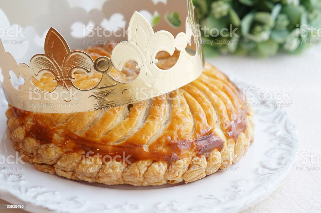 Galette des Rois,French Pie stock photo
