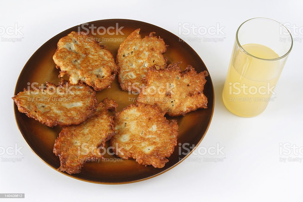galettes and glass royalty-free stock photo