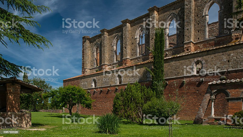 Galgano Abbey stock photo