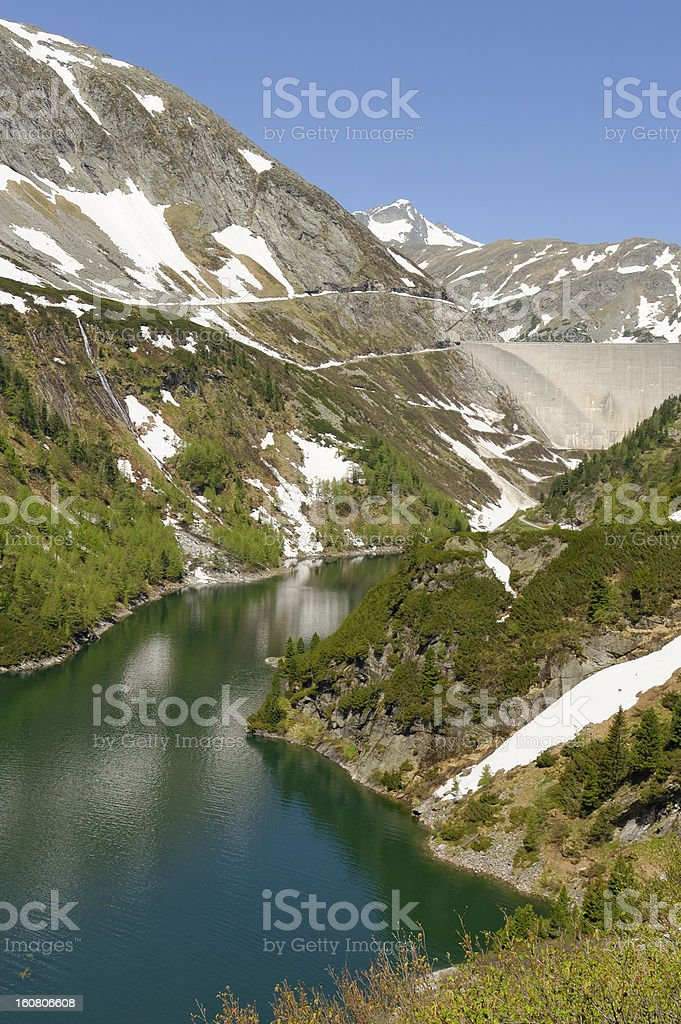Galgenbichl Reservoir and Dam stock photo