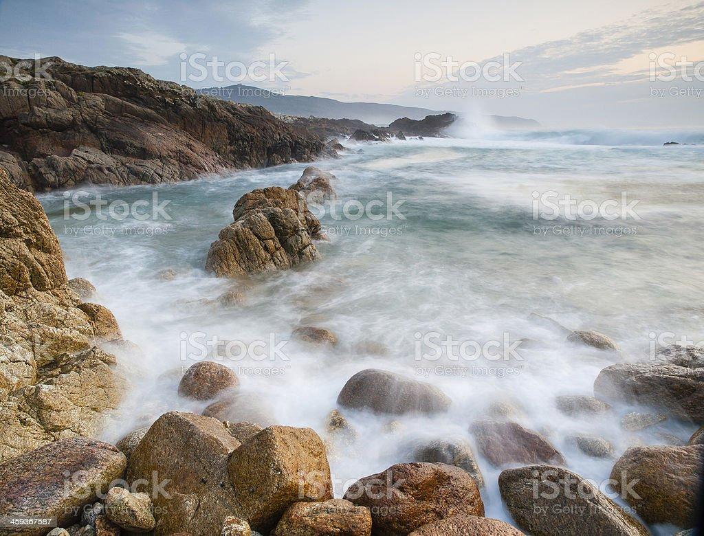 Galician coast stock photo