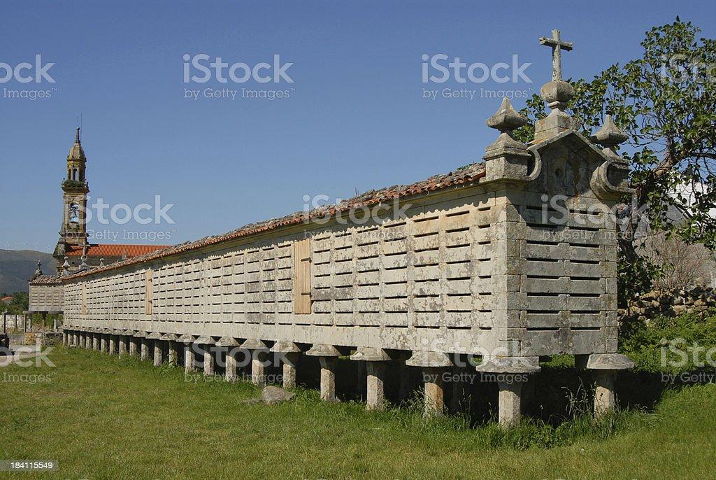 Galician Grain Store royalty-free stock photo