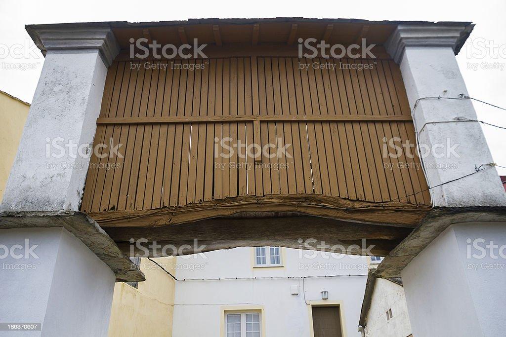 Galician Granary - Horreo gallego stock photo