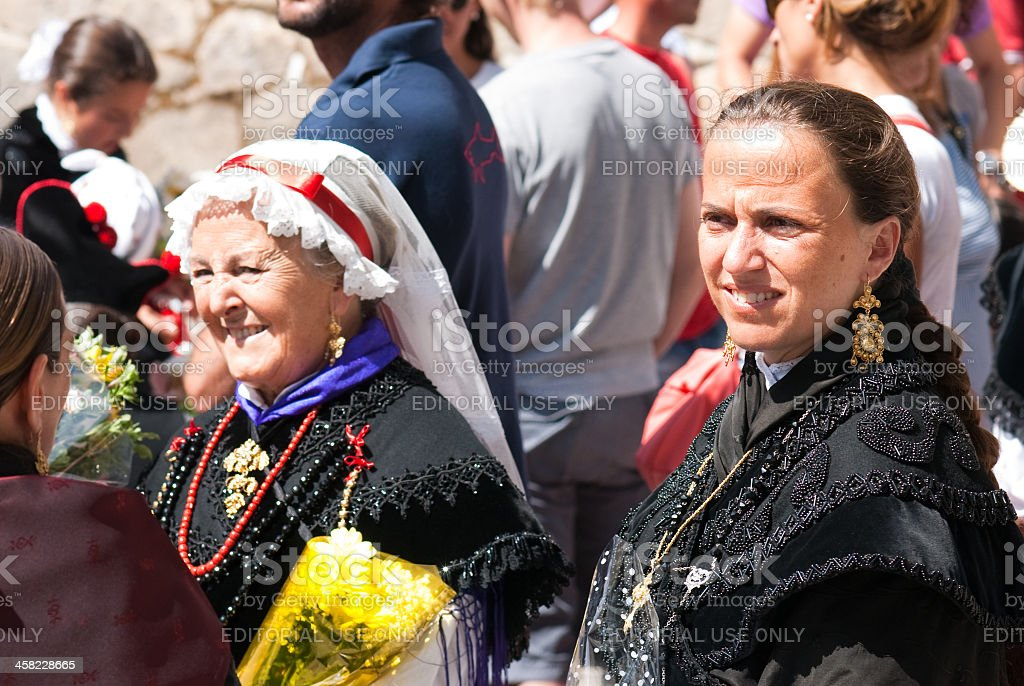 Galician women royalty-free stock photo
