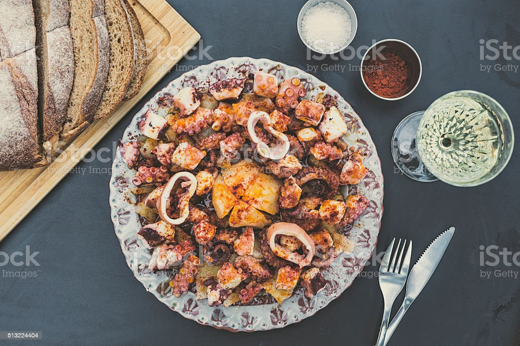 Galician-Style Octopus stock photo