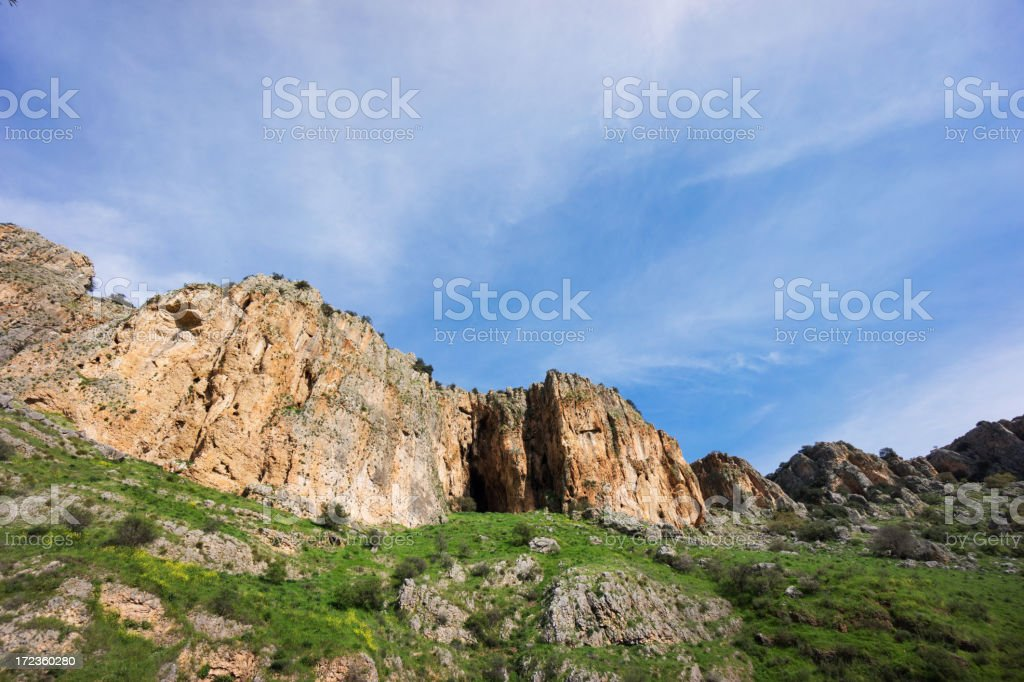 Galilee cliffs royalty-free stock photo
