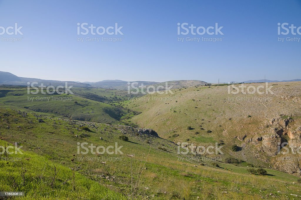Galilee hills royalty-free stock photo