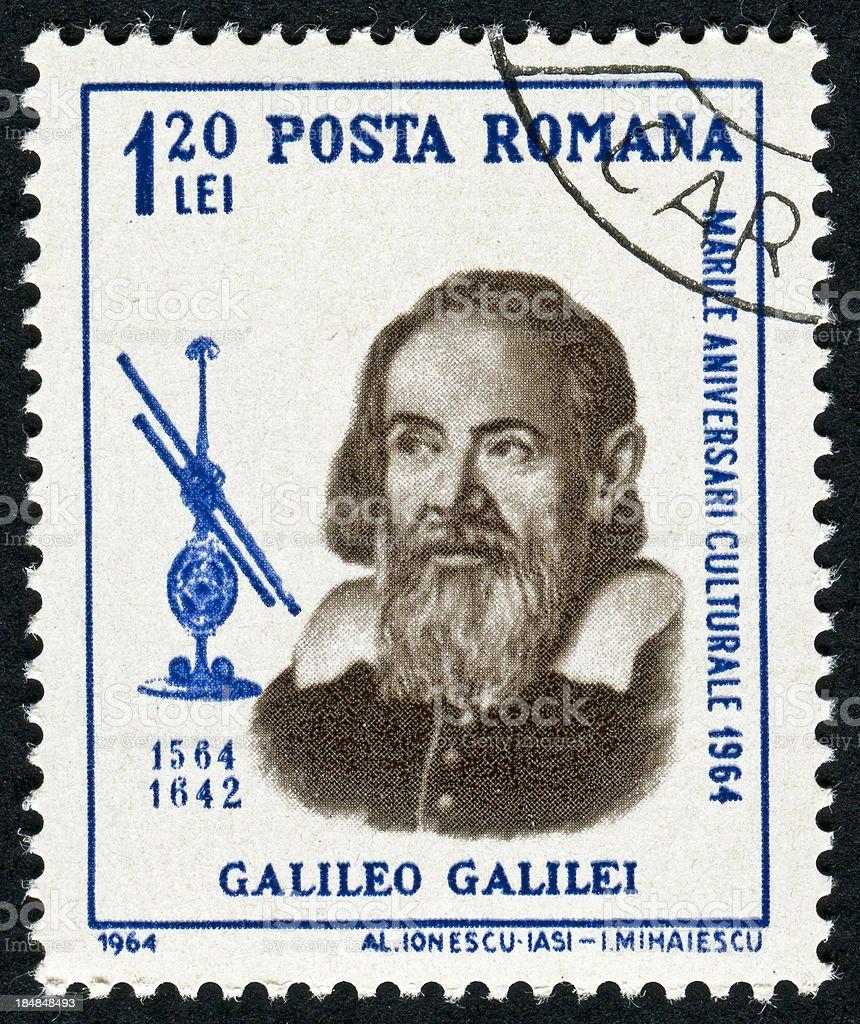 Galileo Galilei Stamp royalty-free stock photo