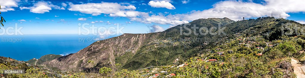 Galipan on the northern slopes of Cerro El Avila  Venezuela stock photo