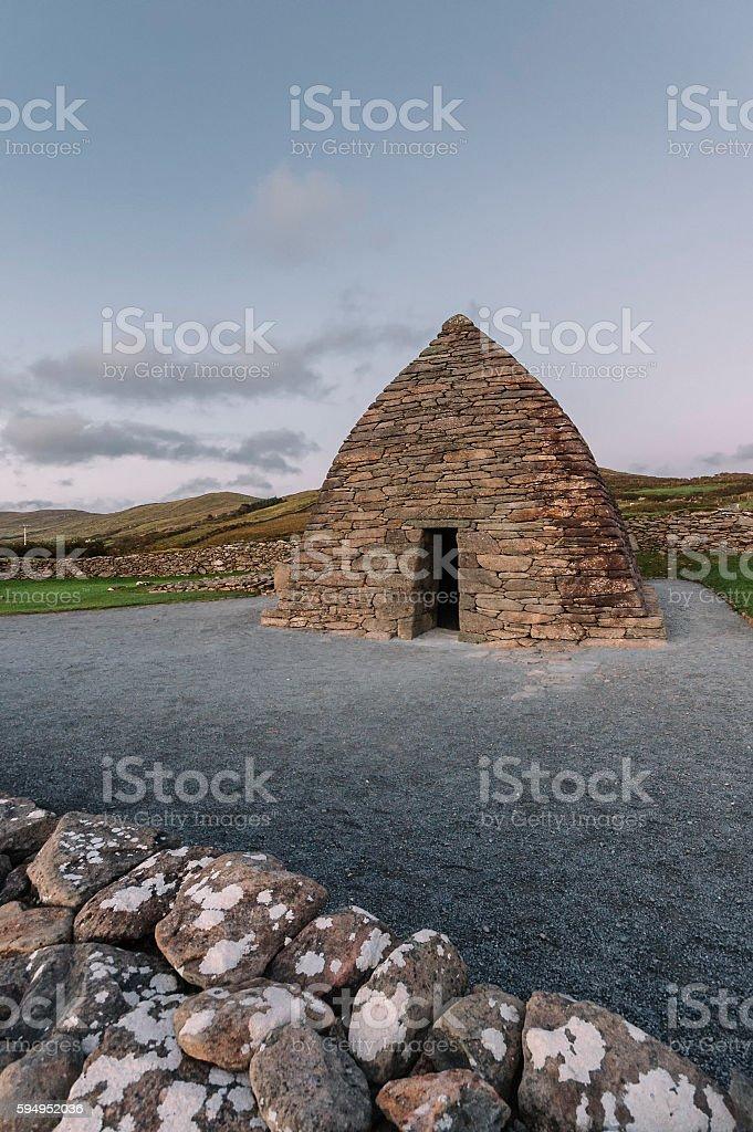 Gallarus Oratory, County Kerry, Ireland. stock photo