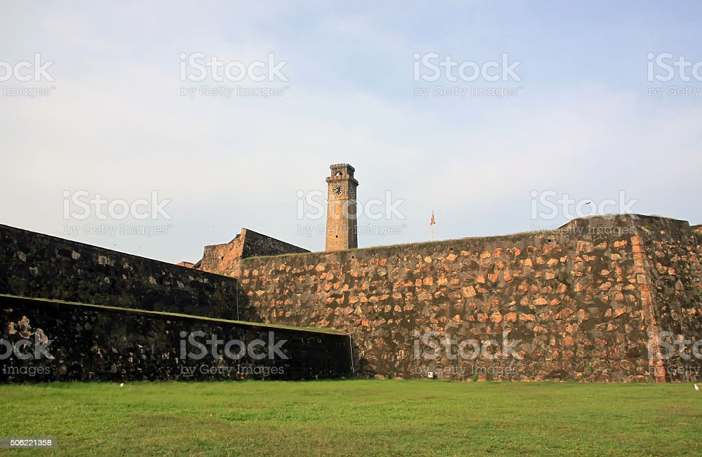 Galle fort, old town of Galle, Srilanka stock photo