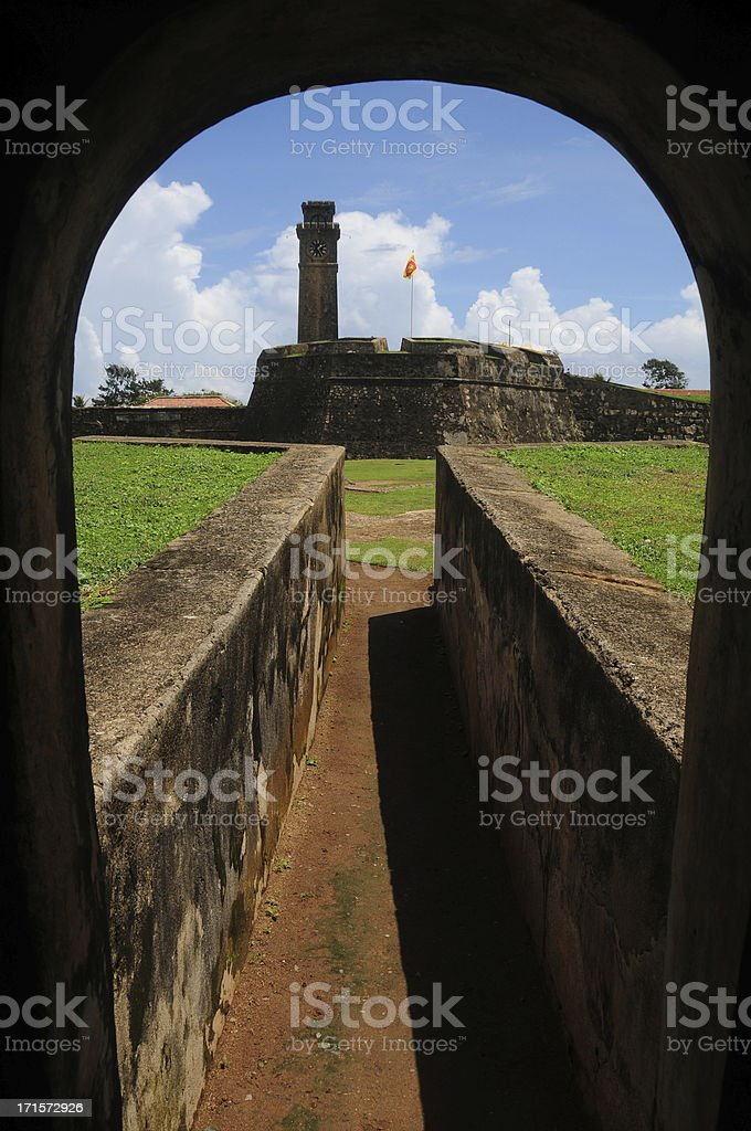 Galle fort, Sri Lanka. royalty-free stock photo