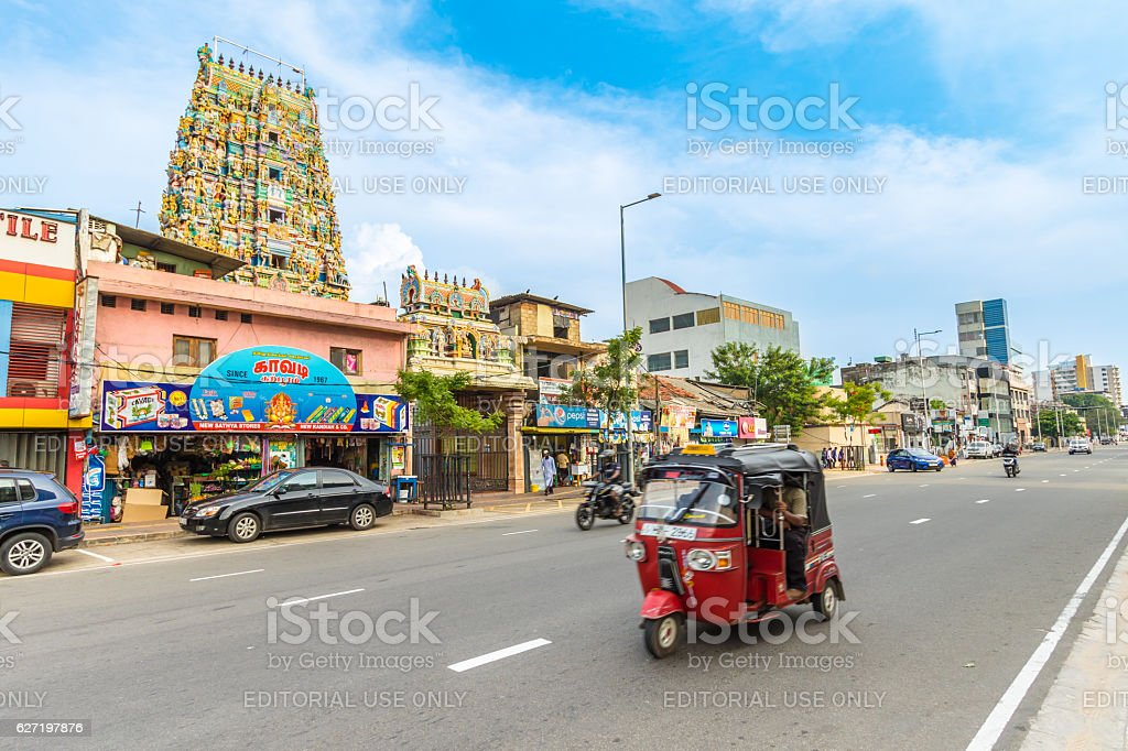 Galle Road, Colombo, Sri Lanka stock photo