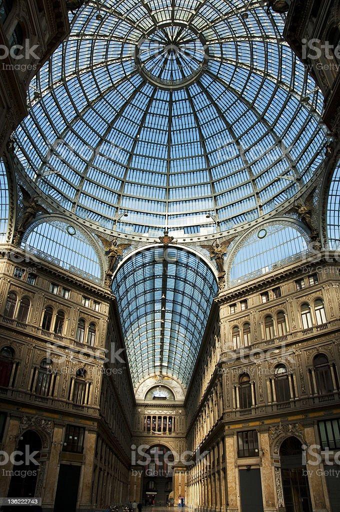 galleria Umberto I royalty-free stock photo