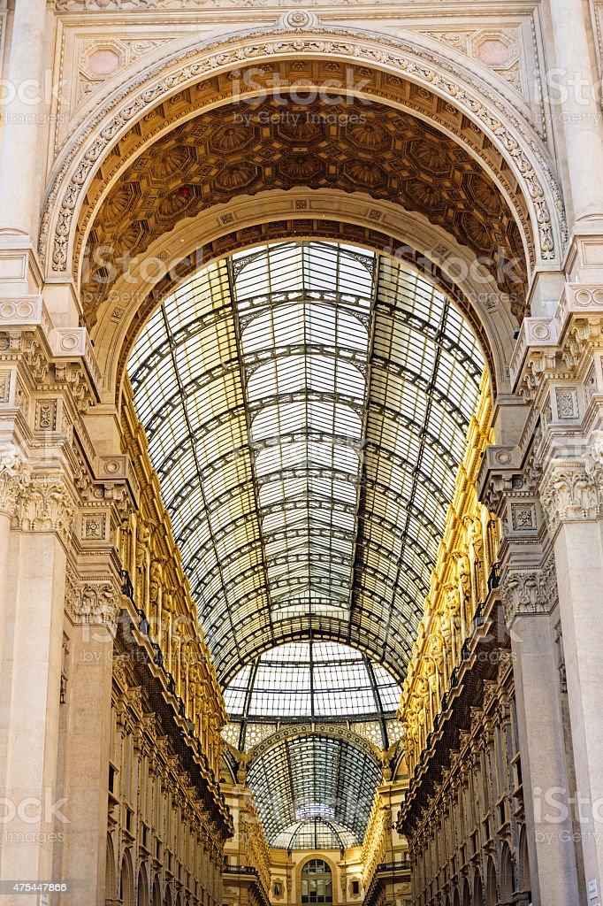 Galleria Umberto II, Milano, Italy stock photo