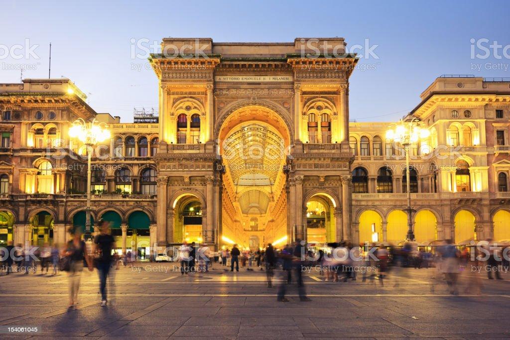 Galleria Vittorio Emanuele at Piazza del Duomo Milan Italy stock photo