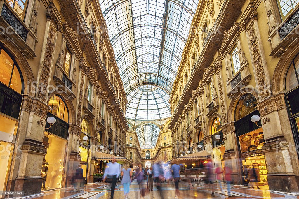 Galleria Vittorio Emanuele II in Milan, Italy stock photo