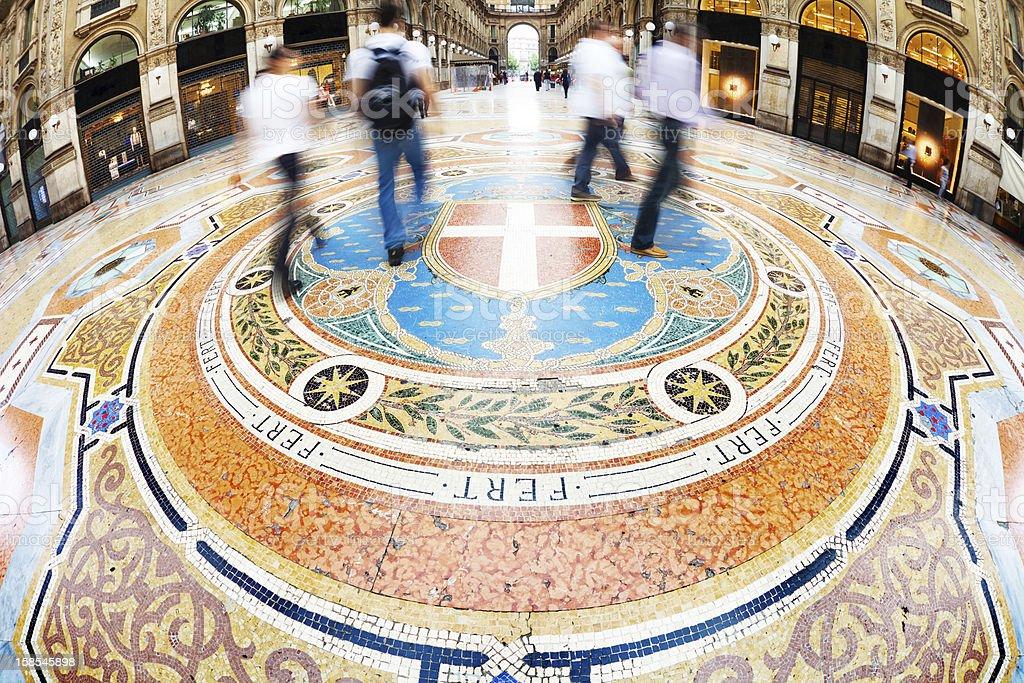 Galleria Vittorio Emanuele II in Milano, Italy royalty-free stock photo