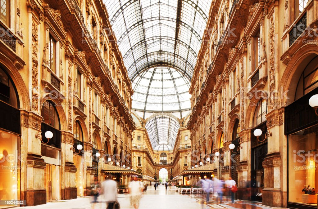 Galleria Vittorio Emanuele II in Milano, Italy royalty-free stock photo