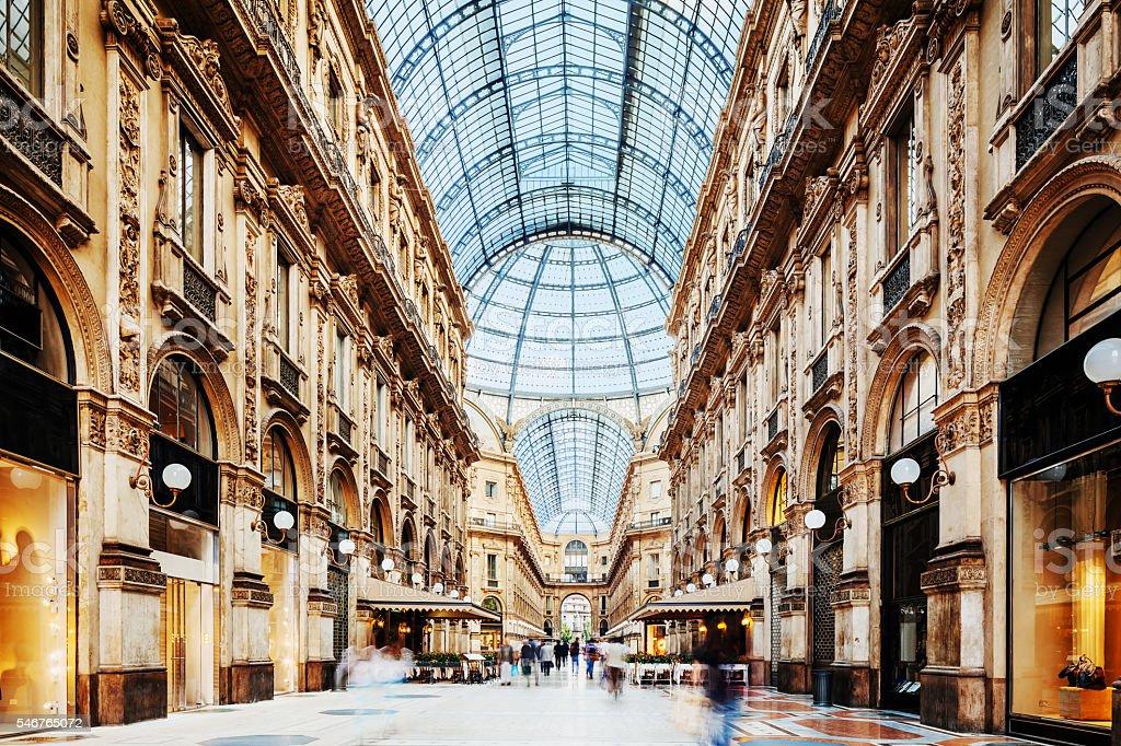 Galleria Vittorio Emanuele II in Milano, Italy stock photo