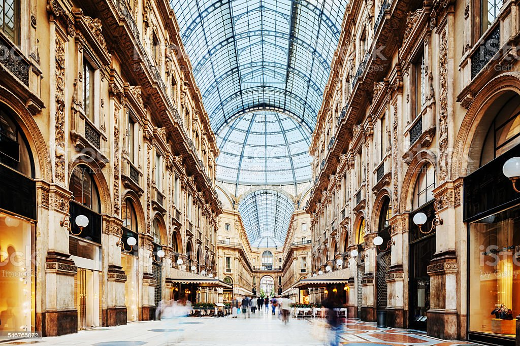 Galleria Vittorio Emanuele II in Milano, Italy stock photo