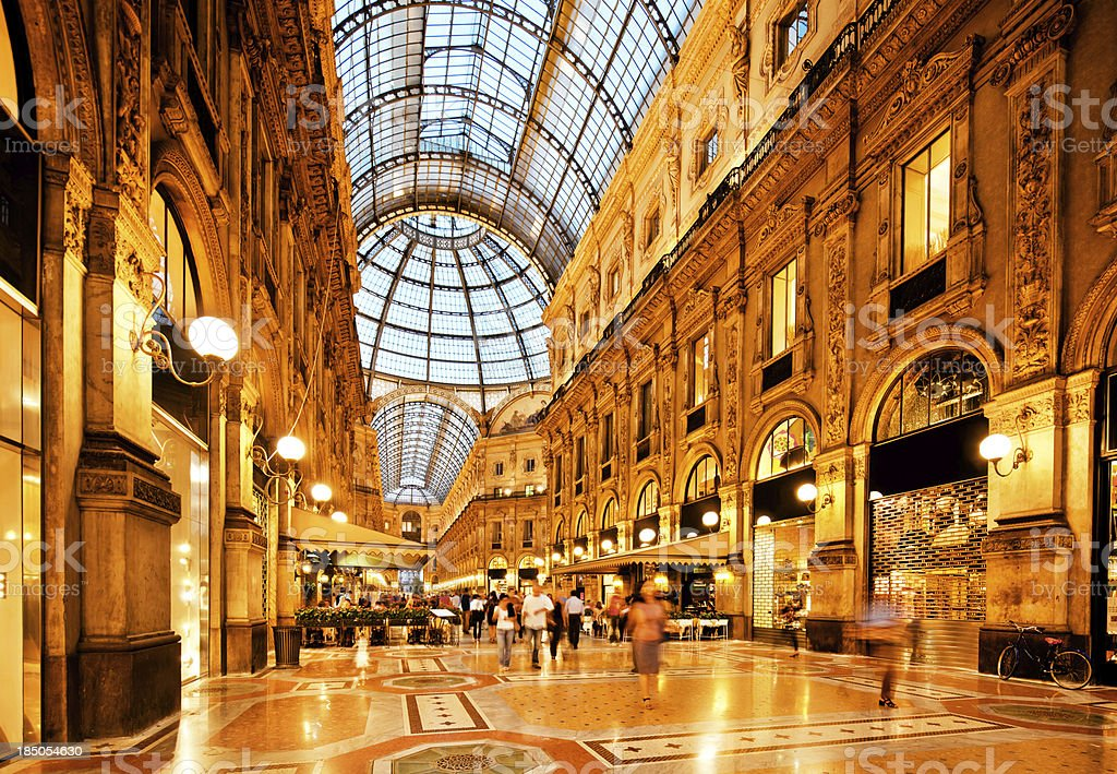 Galleria Vittorio Emanuele II, Milan stock photo
