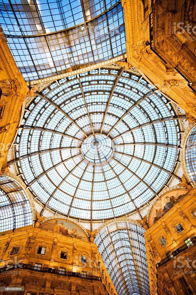 Galleria Vittorio Emanuele II, Milan royalty-free stock photo