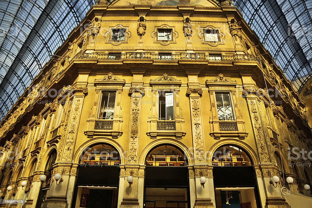 Galleria Vittorio Emanuele II, Milan royalty-free stock photo