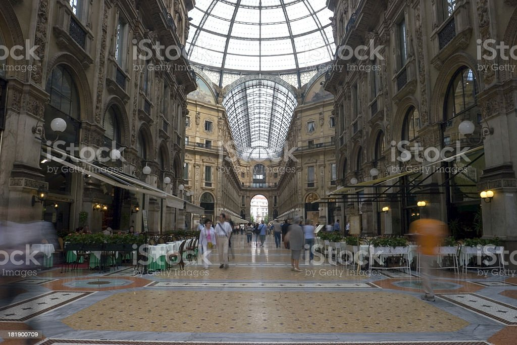 Galleria Vittorio Emanuele II royalty-free stock photo